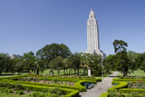 Old State Capitol Building, 34-Story 'New' Building, Baton Rouge, Louisiana, USA Fotografie-Druck von Cindy Miller Hopkins