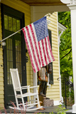 Historic Cooperstown House with Flag, Cooperstown, New York, USA Photographic Print by Cindy Miller Hopkins
