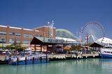 Navy Pier Along the Shores of Lake Michigan, Chicago, Illinois Photographic Print by Cindy Miller Hopkins