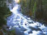 View of Firehole Falls and Firehole River, Yellowstone National Park, Wyoming, USA Photographic Print by Adam Jones