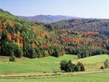 View of Peacham Hills in Autumn, Northeast Kingdom, Vermont, USA Photographic Print by Walter Bibikow