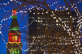 Daniels and Fisher Clock Tower with Christmas Lights, Denver, Colorado, USA Photographic Print by Walter Bibikow