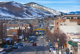 City View of Downtown and Washington Avenue, Golden, Colorado, USA Photographic Print by Walter Bibikow