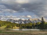 Karwendel Mountain Range, Mittenwald, Lake Wagenbruch, Bavaria Stampa fotografica di Martin Zwick