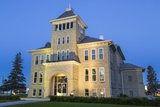 Teton County Courthouse at Dusk in Choteau, Montana, USA Photographic Print by Chuck Haney