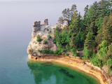 Pictured Rocks National Seashore on Lake Superior, Miner's Castle, Michigan, USA Photographic Print by Adam Jones