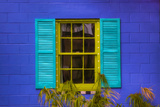Colorful Window at Purple Pickle Restaurant, Darien, Georgia, USA Photographic Print by Joanne Wells
