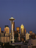 Space Needle at Dusk, Seattle, Washington, USA Photographic Print by Adam Jones