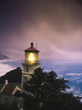 View of Heceta Head Lighthouse at Dusk, Oregon, USA Photographic Print by Stuart Westmorland