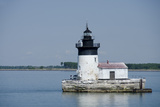 Detroit River Lighthouse, Wyandotte, Detroit River, Lake Erie, Michigan, USA Photographic Print by Cindy Miller Hopkins