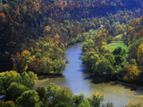 Confluence of the Kentucky and Dix Rivers, Bluegrass Region, Kentucky, USA Photographic Print by Adam Jones