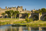 River Aude, Old Bridge, Medieval Town, Carcassonne, Languedoc-Roussillon, France Photographic Print by Brian Jannsen