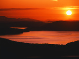 View of Sunset at San Juan Island, Washington State, USA Photographic Print by Stuart Westmorland