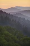 Sunrise, Oconaluftee Overlook, Great Smoky Mountains National Park, North Carolina, USA Photographic Print