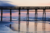 Sunset Beach Pier at Sunrise, North Carolina, USA Photographic Print