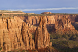 Monuments at Sunrise, Colorado National Monument, Fruita, Colorado, USA Photographic Print by Chuck Haney