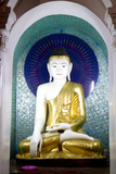 Buddha Statue, Shwedagon Pagoda in (Rangoon) Yangon, (Burma) Myanmar Photographic Print by David R. Frazier