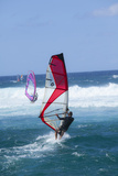 Windsurfing, Hookipa Beach Park, Maui, Hawaii, USA Photographic Print by Douglas Peebles