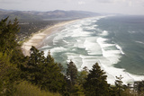 Neahkahnie Beach and Manzanita and Beach from Viewpoint, Oregon, USA Photographic Print by Jamie & Judy Wild