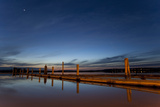 Docks at Dusk, 10th Street Marina Park at the Port of Everett, Washington, USA Photographic Print by John & Lisa Merrill
