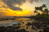Sunset, Poipu, Kauai, Hawaii, USA Photographic Print by Douglas Peebles