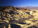 Telescope Peak in Mojave Desert, Death Valley National Park, Zabriskie Point, California, USA Photographic Print by Adam Jones