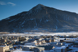 Elevated Town View, Morning, Crested Butte, Colorado, USA Photographic Print by Walter Bibikow