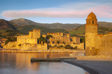 Royal Castle, Eglise Notre Dame Church, Collioure, Languedoc-Roussillon, France Photographic Print by Brian Jannsen