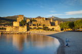 Fishing, Royal Castle, Collioure, Pyrenees-Orientales, Languedoc-Roussillon France Photographic Print by Brian Jannsen