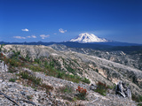 Mt Adams from Windy Ridge, Mt St Helens Volcanic National Monument, Washington, USA Photographic Print by Kent Foster