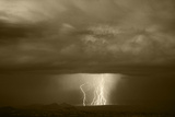 Thunderstorm over Cathedral Valley, Utah, USA Photographic Print by Scott T. Smith
