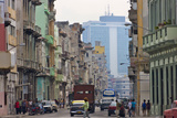 Old and New Buildings, Havana, UNESCO World Heritage Site, Cuba Photographic Print by Keren Su