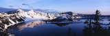 Snow-Covered Mountains with Crater Lake, Crater Lake National Park, Oregon, USA Photographic Print by Paul Souders