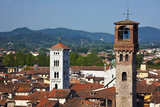 Torre delle Ore, Clock Tower, Guinigi Tower, Lucca, Italy Photographic Print by Terry Eggers