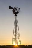 Old Windmill at Sunset Near New England, North Dakota, USA Stampa fotografica di Chuck Haney