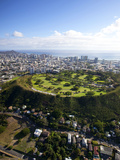 Punchbowl, National Memorial Cemetery of the Pacific, Honolulu, Oahu, Hawaii, USA Photographic Print by Douglas Peebles