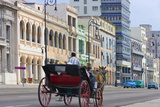 Horse Carriage on the Street, Havana, UNESCO World Heritage Site, Cuba Photographic Print by Keren Su