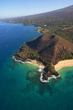 Coastline, Pu'u Olai, Makena Beach, Aka Oneloa Beach and Big Beach, Maui, Hawaii, USA Photographic Print by Douglas Peebles