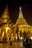 The Shwedagon Pagoda in (Rangoon) Yangon, (Burma) Myanmar Photographic Print by David R. Frazier
