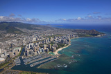 Ala Moana and Waikiki, Oahu, Hawaii, USA Photographic Print by Douglas Peebles
