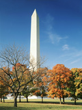 View of Washington Monument in Autumn, Washington DC, USA Photographic Print by Scott T. Smith