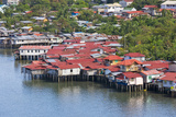 Aerial View of Houses on Stilts Along the Waterfront, Cebu City, Philippines Photographic Print by Keren Su