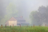 Pioneer's Cabin, Misty Cades Cove, Great Smoky Mountains National Park, Tennessee, USA Photographic Print