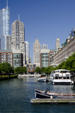 Canal View of the Chicago's Magnificent Mile City Skyline, Chicago, Illinois Photographic Print by Cindy Miller Hopkins