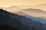 Sunrise, Oconaluftee Overlook, Great Smoky Mountains National Park, North Carolina, USA Photographic Print