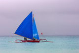 Sailing in the Ocean, Boracay Island, Aklan Province, Philippines Photographic Print by Keren Su