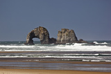 Rockaway Beach, Twin Rocks, Oregon, USA Photographic Print by Jamie & Judy Wild