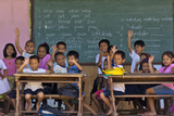 Education, Students Having a Class in a Village School, Bohol Island, Philippines Photographic Print by Keren Su