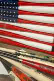 Baseball Bats Made into a Us Flag, Cooperstown, New York, USA Fotografisk tryk af Cindy Miller Hopkins
