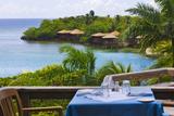 Resort on the Water, Roatan Island, Honduras Photographic Print by Keren Su